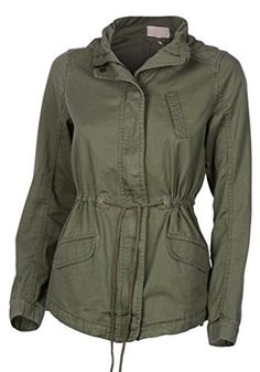 Women's Premium Vintage Wash Lightweight Military Fashion Street Twill Jacket -- Details can be found by clicking on the image.