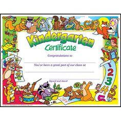T-343 Kindergarten Certificate PK-K Certificates & Diplomas- Trend