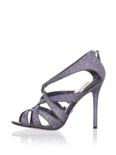 Badgley Mischka Junebug Sandel Charcoal Formal Shoes $93