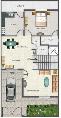 duplex floor plans indian duplex house design duplex house map - Home Design Plans Indian Style