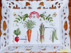 Ornate Veggie wood tray by MoanasUniqueDesigns on Etsy, $35.00