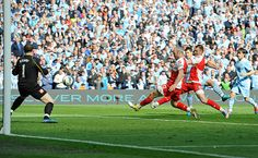 13th May 2012: Amazingly, in the most dramatic finishes to a Premier League season, Sergio Aguero keeps his composure to win it for City in injury time and give them their first league title since 1968.