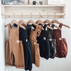Childrens Outfits for Autumn Winter 2019 from Poppy and Pom. Check out gorgeous Handmade Baby Clothes Fashion Kids, Toddler Fashion, Handmade Baby Clothes, Baby Kids Clothes, Minimalist Kids, Baby Overalls, Rompers For Kids, Kids Wardrobe, Baby Sewing