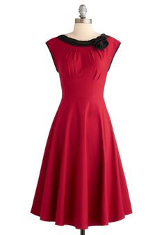 Perfect Red Vintage Style Dress
