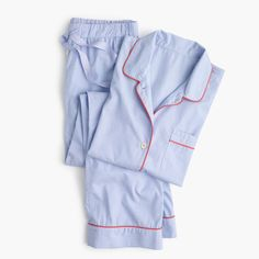J.Crew Gift Guide: women's tipped vintage pajama set.