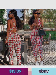 Africa Fashion 678565868843404080 - Fashion Women V Neck Sleeveless Print Cross. - Africa Fashion 678565868843404080 – Fashion Women V Neck Sleeveless Print Cross Back Bodycon Jumpsuit Romper Casual – Source by African Fashion Ankara, Latest African Fashion Dresses, African Print Fashion, Africa Fashion, African Print Jumpsuit, African Print Dresses, African Dress, African Prints, African Fabric