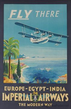 Vintage travel posters - Imperial to Europe, Egypt, India