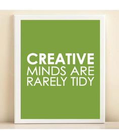 Lime Creative Minds print poster by AmandaCatherineDes on Etsy, $15.00
