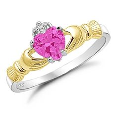 Sterling Silver Gold Plated Rose Pink Cz Claddagh Ring Size 4 Kriskate & Co. http://www.amazon.com/dp/B00DTXEBCI/ref=cm_sw_r_pi_dp_a.Advb106JDQ7