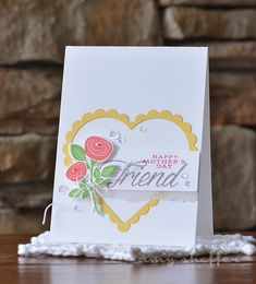 Happy Mother's Day Friend Card by Amy Sheffer for Papertrey Ink (February 2015)