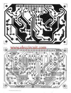 2 channel 100w stereo audio amplifier circuit by STK4231II