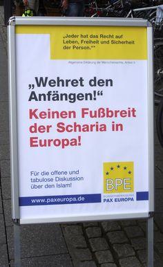 #Islamaufklärung Wehret den Anfängen! Keinen Fußbreit der Scharia in Europa! — BPE informiert in Hannover über Islam / Islamisierung   (Bürgerbewegung PAX EUROPA e.V.)