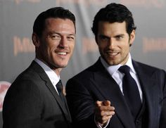 Luke Evans and Henry Cavill... Yes please.