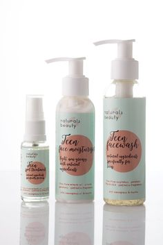 Teen skin experiences hormonal upheavals and results in oily, shiny skin, spots and irritations. Natural Face, Natural Beauty, Acne Spots, Prevent Wrinkles, Moisturiser, Face Wash, Pretty Woman, Fragrance, Range