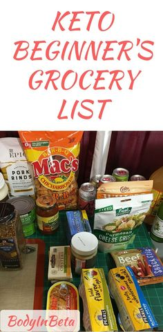Items that I would recommend for someone starting out on the ketogenic diet. Keto beginner's grocer list.