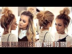 6 QUICK & EASY BUN HAIRSTYLES YOU NEED TO TRY! // HAIR TUTORIAL - YouTube