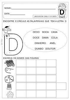 Atividades letra D - Danieducar Kids Education, Kindergarten, Ads, Activities, Learning, Everton, Link, Amanda, Spanish