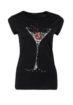 T-shirt z nadrukiem - czarny