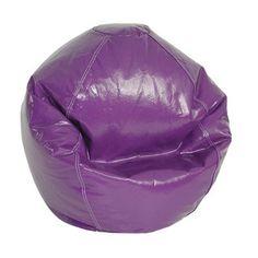 Elite Products Wetlook Bean Bag Chair Upholstery: Grape