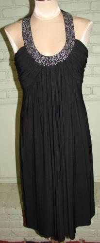 JS Boutique Black Cocktail dress Scoop neck jeweled size 8