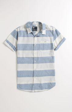 Modern Amusement Rug Short Sleeve Chambray Woven Shirt #ModernAmusement #PacSun