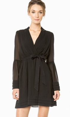 ROREY WRAP DRESS IN BLACK