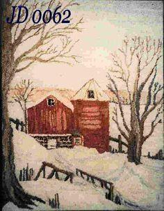 Red Barn in Winter Jacqueline Hansen