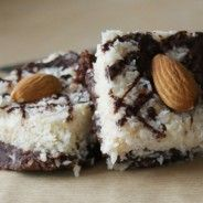 And Then There's Dessert - Paleo Chocolate Fudge Coconut Bars! Paleo Sweets, Paleo Dessert, Delicious Desserts, Dessert Recipes, Yummy Food, Diet Desserts, Chocolate Paleo, Chocolate Fudge, Coconut Bars
