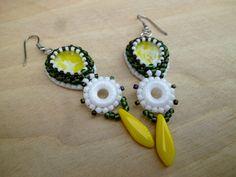 Lightly lemon Lemon, Drop Earrings, Beadwork, Jewelry, Fashion, Moda, Jewlery, Jewerly, Fashion Styles