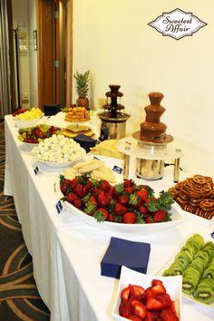 Sweetest Affair S Chocolate Fountain Bar Table