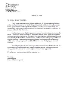 Character Letter for Judge | Character Reference Letter for a ...
