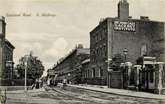 Postcard of Cassland Road 1900. By 1897, Hackney was a densely built part of London. On the Cass estates in south Hackney, there were streets named after trustees and treasurers of the Cass foundation – Cassland Road named after Sir John himself.
