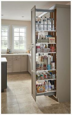 Unbeatable kitchen pantry organization hacks // Rev-A-Shelf 5300 Series 10 Inch by 59 Inch Tall Two Tier Pull Out Pantry Maple Tall Cabinet Organizers Pull Out Pantry Organizers Pull Out Kitchen Pantry Design, Diy Kitchen Storage, Kitchen Redo, Home Decor Kitchen, Interior Design Kitchen, Kitchen Furniture, New Kitchen, Home Kitchens, Kitchen Organization