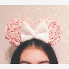 Minnie Mouse Ears Light Pink Roses by DisneyDreamCreations