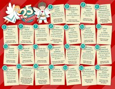 25 DAYS OF MESSAGE The Christmas Angel (2013)  Click image to open in a new window to print!