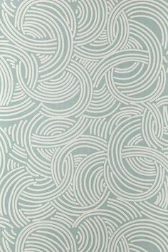 Tourbillon by Farrow & Ball - Aqua - Wallpaper : Wallpaper Direct Beige Wallpaper, Paper Wallpaper, Geometric Wallpaper, Home Wallpaper, Wallpaper Maker, Bathroom Wallpaper, Geometric Art, Farrow Ball, Farrow And Ball Paint