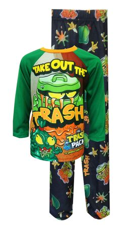 The Trash Pack Take Out the Trash Pajamas Maybe the chores will get done if he is wearing these pajamas! These flame resistant ...