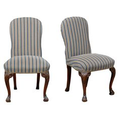 Pair Of 19thc Georgian Style Side Chairs With Nailhead Detail | From a unique collection of antique and modern side chairs at http://www.1stdibs.com/furniture/seating/side-chairs/