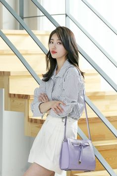 Arab Say A ✿ (suzy beautiful, handsome ) Korean Fashion Trends, Korea Fashion, Kpop Fashion, Asian Fashion, Suzy Bae Fashion, Style Outfits, Fashion Outfits, Asian Woman, Asian Girl