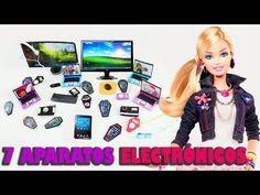 Cómo hacer 7 aparatos electrónicos personales para tus muñecas - Manualidades para muñecas - YouTube