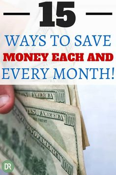 Do you need to save money each month? How about $1,800? Here are 15 proven ways to save money each and every month. They work and will save you money!
