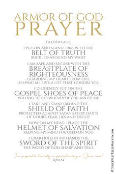 Armor Of God prayer poster printable Prayer Scriptures, Bible Prayers, Faith Prayer, God Prayer, Prayer Quotes, Bible Verses Quotes, Faith Quotes, Prayer Wall, Prayers For Peace