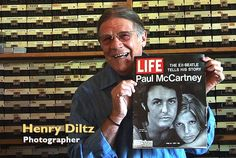 Henry Diltz today, with the Paul and Linda McCartney April 16, 1971 LIFE magazine cover. Diltz took the cover photo in Malibu, California in 1971.