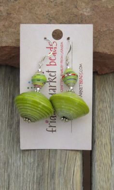 Paper Bead Earrings - Friday Market Beads www.fridaymarketbeads.com $10