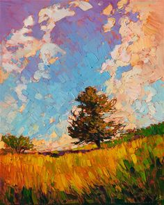 A contemporary masterpiece of light and color, by modern impressionist Erin Hanson.