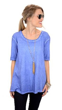 Washed Out Tee, Blue :: NEW ARRIVALS :: The Blue Door Boutique