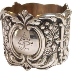 "American Sterling Napkin Ring ""S"" 19th C."