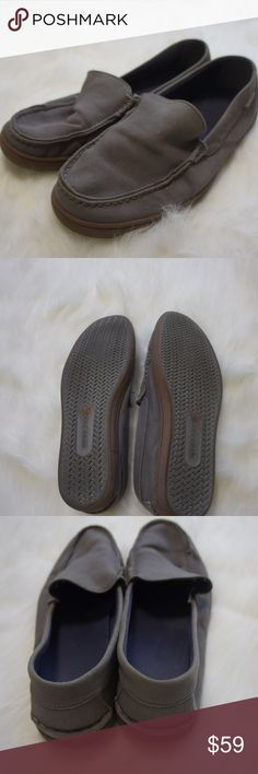 Cole Haan loafers shoes 11M Good condition loafers from Cole Haan.  Look at sidewalk surfers, but the name and feel you love.  Matte grey color with brown sole. Cole Haan Shoes Loafers & Slip-Ons