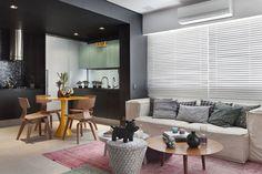 Бразильский интерьер с чёрной кухней   Пуфик - блог о дизайне интерьера