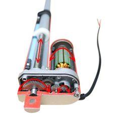 Inside a Linear actuator - How does a linear Actuator work Robotics Engineering, Mechanical Engineering, Mechanical Projects, Atuador Linear, Arduino Motor, Solar Tracker, Overland Truck, Mechanical Design, Mechanical Gears